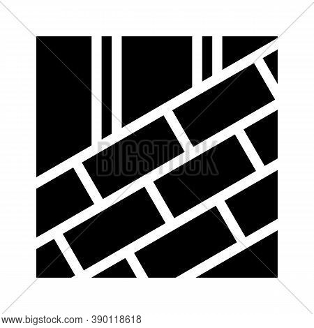 Roof Tiles Laying Glyph Icon Vector Illustration