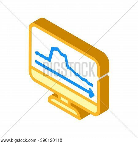 Peak Voltage Surges Isometric Icon Vector Illustration