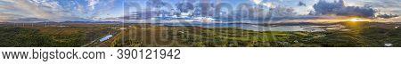 360 Panorama Of Bonny Glen By Portnoo In County Donegal - Ireland