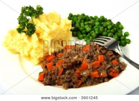 Mince Potatoes And Peas