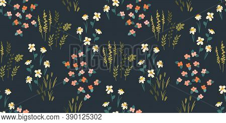 Floral Seamless Pattern. Vector Design For Paper, Cover, Fabric, Interior Decor And Other