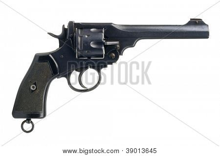 A big British military revolver, in calibre .455