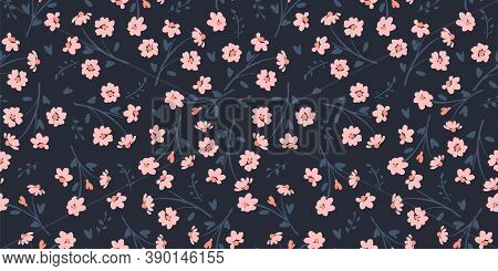 Floral Seamless Pattern. Vector Design For Paper, Cover, Fabric, Interior Decor And Other.