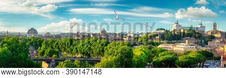 View Of Rome From National Monument To Victor Emmanuel Ii Or Il Vittoriano In Rome