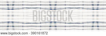 Indigo Square Picnic. Seamless Buffalo Kilt. Scotland Plaid Fabric. Vintage Man Material. Square Pic