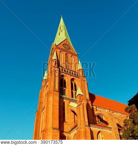 Church Tower Under The Settıng Sun Lıght