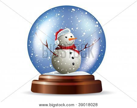 Snowglobe with snowman