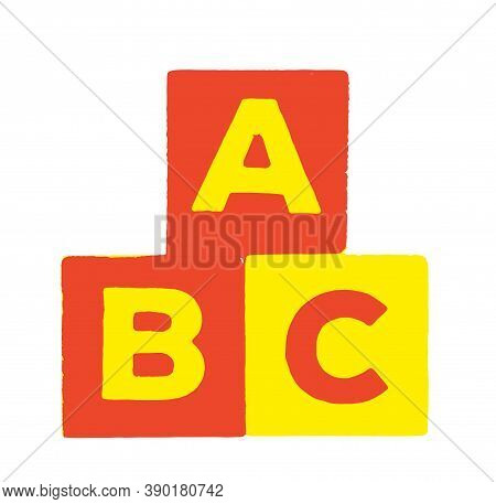 Abc Building Blocks Isolated On White Background