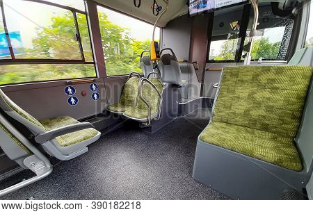 Bucharest, Romania - Juny 13, 2020: Soft Upholstered Seats In The Passenger Compartment Of A Mercede