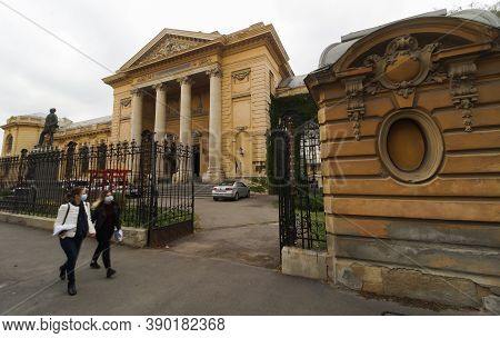 Bucharest, Romania - October 01, 2020 The Palace Of The Faculty Of Medicine Of Carol Davila Universi