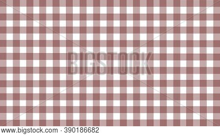 Brown White Checkered Background. Space For Graphic Design And Creative Ideas. Checkered Texture. Cl