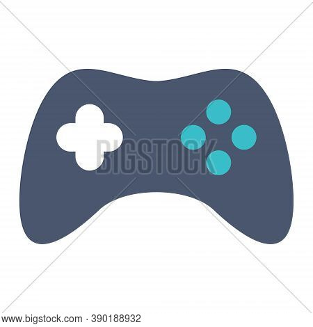 Game Controller Icon In Flat Style. Video Game Console. Game Pad Icon Illustration For Mobile And We