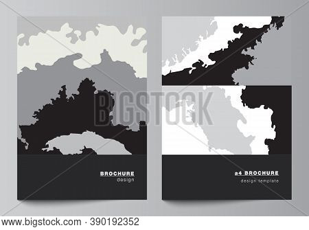 Vector Layout Of A4 Cover Mockups Design Template For Brochure, Flyer Layout, Booklet, Cover Design,