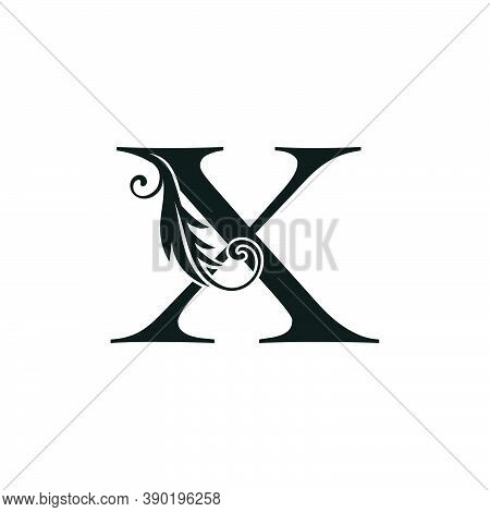 Monogram Initial Letter X Luxury Logo Icon, Luxurious Vector Design Concept Alphabet Letter For Vint