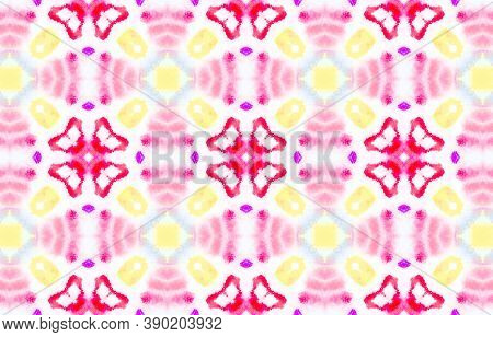 Watercolor Abstract Background. Watercolor Painted Bandana Background. Colorful And White Color. Abs