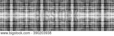 Buffalo Checks. Watercolour Picnic Blanket. Wool Geometric Squares For Tile Print. Seamless Black Bu