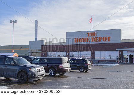 Calgary Alberta, Canada. Oct 17, 2020. The Home Depot Is The Largest Home Improvement Retailer In Th