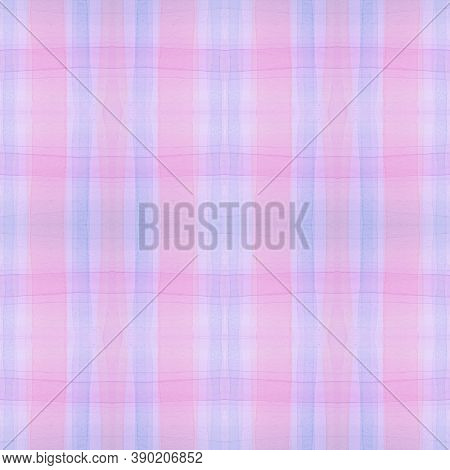 Blue Pajama Pattern. Irish Seamless Plaid Flannel. Watercolor Squares For Man Print. Elegant Kids Pa