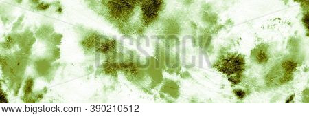 Abstract Watercolour Stains. Green Grassy Dyed Pattern. Wrinkled Craft Surface. Abstract Watercolour