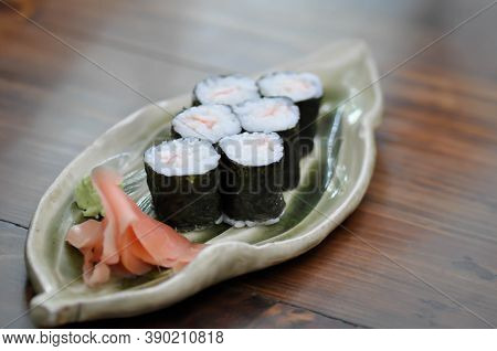 Maki , Rolls Or Japanese Roll Or Rice Roll