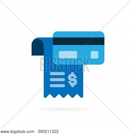Payment Icon Pictogram. Credit Card And Payment Slip Symbol On White Background. Vector Illustration