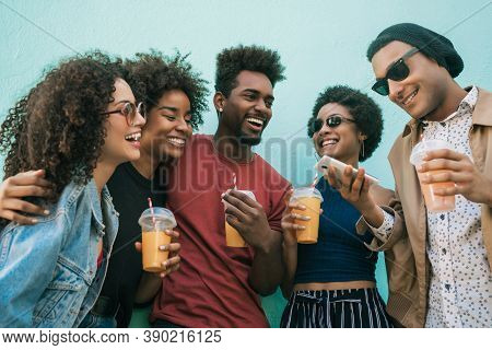 Afro Friends Having Fun Together.