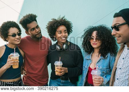 Multi-ethnic Group Of Friends Having Fun Together.