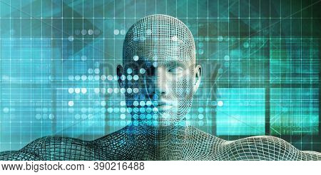 Information Economy and Personal Data of Value Ethics 3d Render