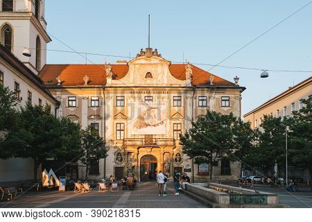 Brno, Czech Republic - September 12 2020: Governor's Palace Building, The Seat Of The Moravian Galle