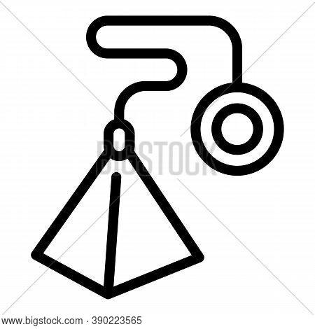 Tea Bag Pyramide Icon. Outline Tea Bag Pyramide Vector Icon For Web Design Isolated On White Backgro