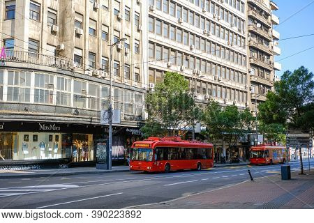 Belgrade / Serbia - May 16, 2020: Trolleybuses Of The Public Transport Company