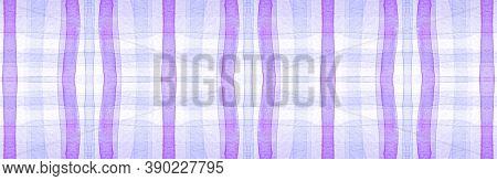 Purple Flannel Checks. Watercolor Stripe Material. Modern Checkered Wallpaper. Seamless Flannel Chec