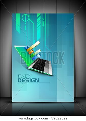 Professional business flyer template or corporate banner design, can be use for publishing, print and presentation. EPS 10. poster
