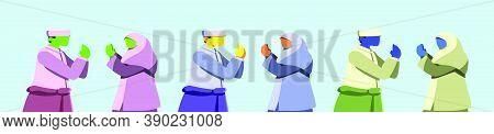 Selamat Hari Raya Idul Fitri Is Another Language Of Happy Eid Mubarak In Indonesian. Muslim Couple B