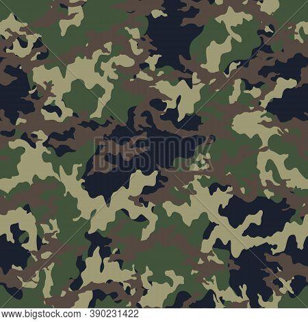 Fashionable Camouflage Pattern, Military Print .seamless Illustration