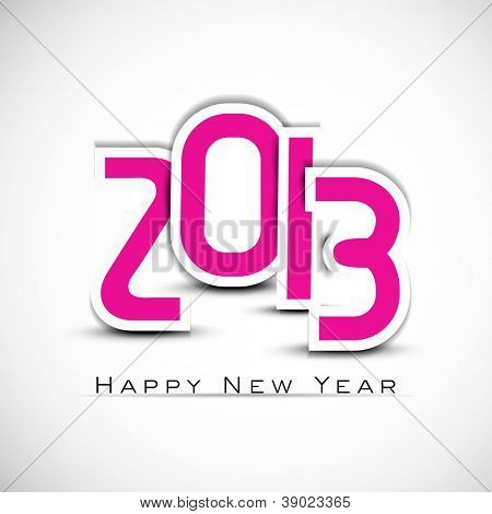 Stylized 2013 Happy New Year background. EPS 10 poster