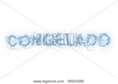 A frozen word/phrase from a serie isolated on a white background. 'Congelado' in Portuguese-Br language means 'Frozen'.