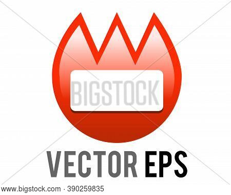 The Isolated Vector Gradient Red Tulip Shaped Name Badge Fire Tag Icon, Commonly Found At Kindergard