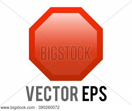 The Isolated Vector Gradient Red Octagonal Road Stop Warning Sign Icon
