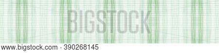 Green Gingham Check. Watercolour Plaid Texture. Irish Stripes For Fabric Design. Seamless Gingham Ch