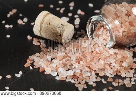 Salt - Crystals Of Salt Pink Of Himalayan.