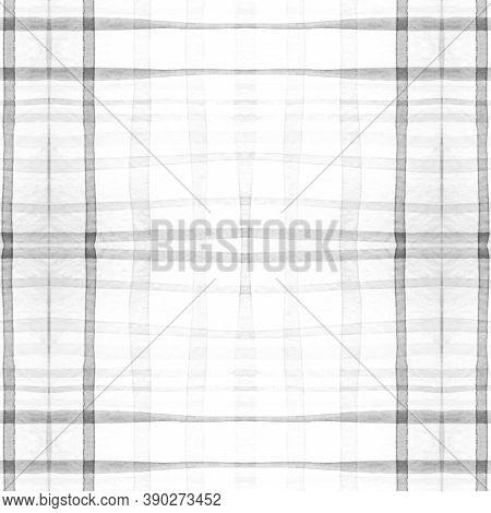 Check Shirt Prints. Watercolor Tartan Texture. Woven Geometric Squares For Cloth Print. Seamless Men