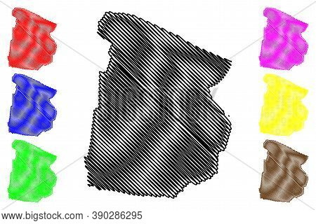 Cochabamba City (plurinational State Of Bolivia, Cercado Province) Map Vector Illustration, Scribble