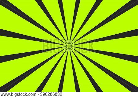 Pop Art Banner With Rays. Explosion Poster. Comic Pattern With Sunburst