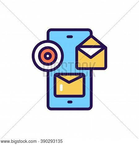 Targeted Messaging Line Color Icon. Smm Promotion.