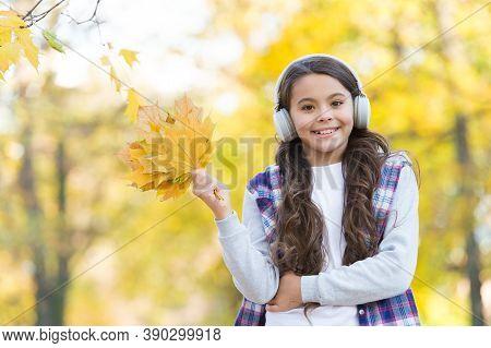 So Beautiful. Autumn Kid Fashion. Inspiration. Happy Childhood. Back To School. Girl With Maple Leav