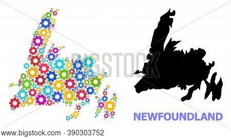 Vector Mosaic Map Of Newfoundland Island Combined For Mechanics. Mosaic Map Of Newfoundland Island I
