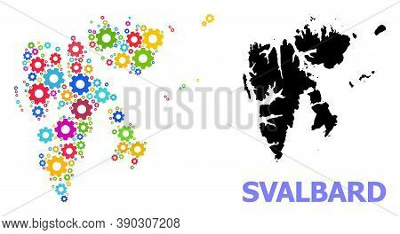 Vector Mosaic Map Of Svalbard Islands Combined For Mechanics. Mosaic Map Of Svalbard Islands Is Desi
