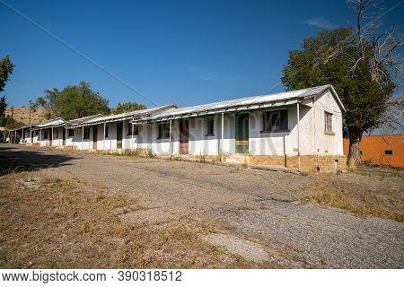 Dinosaur, Colorado - September 20, 2020: Exterior Of The Abandoned And Closed Hi-vu Motel
