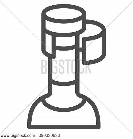 Wine Cork In Bottle Line Icon, Wine Festival Concept, Bottle With Cork Stopper Sign On White Backgro
